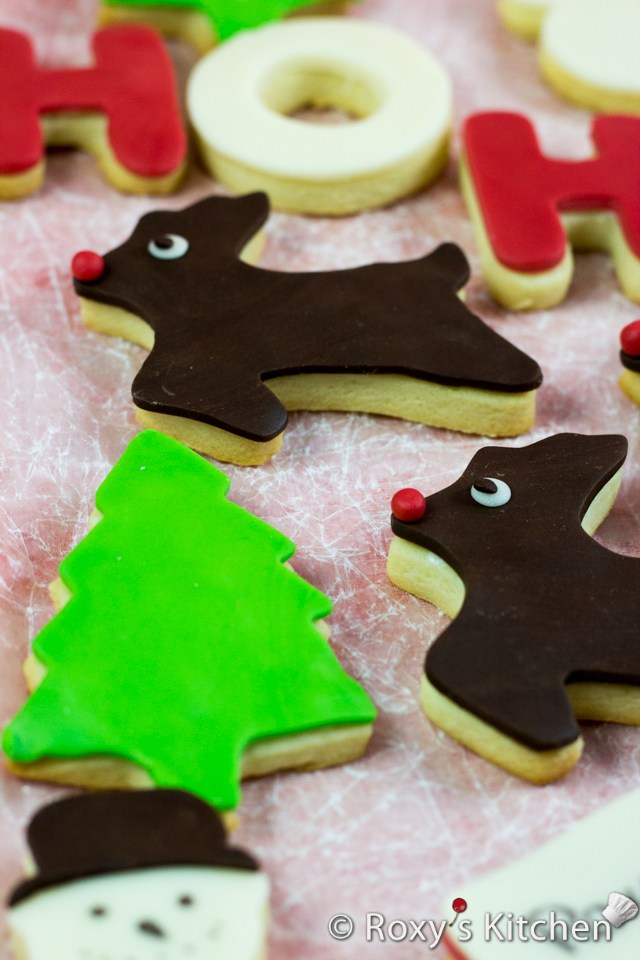 Christmas Sugar Cookies Covered with Modeling Chocolate | Roxy's Kitchen