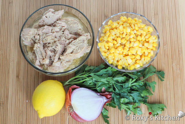 Quick and Easy Salad with Tuna and Corn - Ingredients