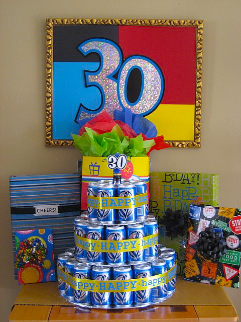 30th Birthday Beer Can Cake