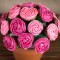 Easy Rose Cupcake Bouquet in a Pot