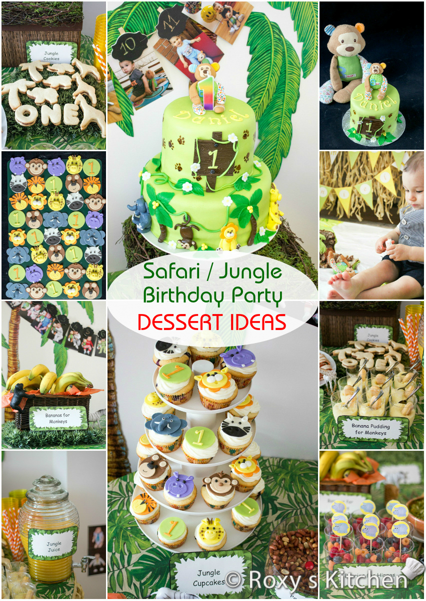 Safari Jungle Themed First Birthday Party Dessert Ideas Great For A Baby Shower