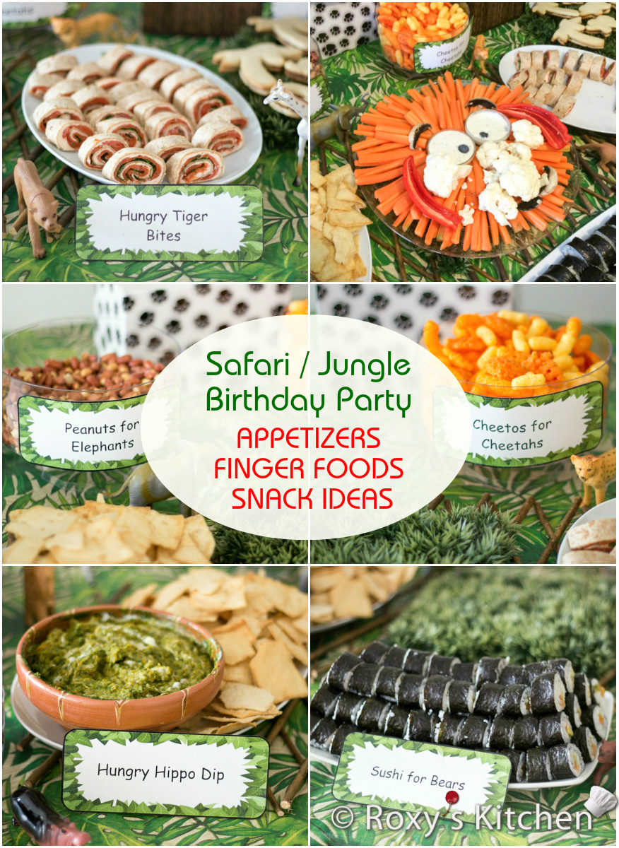 Safari Jungle Themed First Birthday Party Part Ii Etizers Finger Foods Snack