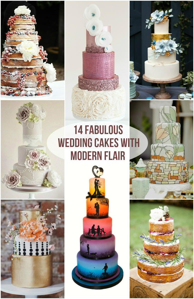 14 Fabulous Wedding Cakes With Modern Flair Roxy S Kitchen